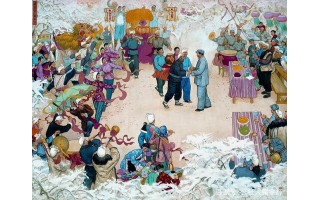 画风明快,富有张力,著名画家蔡亮10幅人物油画作品欣赏