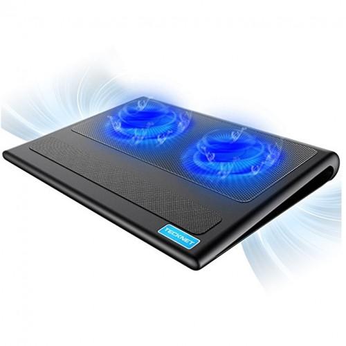 精明coolertek两风扇笔记本散热垫超静音风扇散热底座