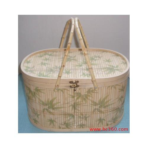供应大闸蟹包装 特产包装礼品包装竹篮